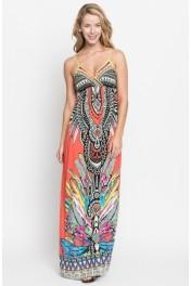 geo print maxi dress - My look
