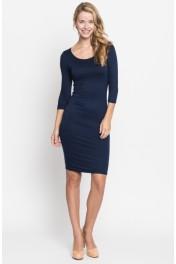 solid midi dress - My look