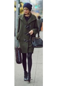 Taylor's Olive Toggle Coat