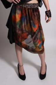 skirt, silk, brocade