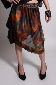 skirt, silk, brocade