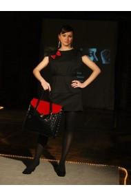 Dress black and red elegance