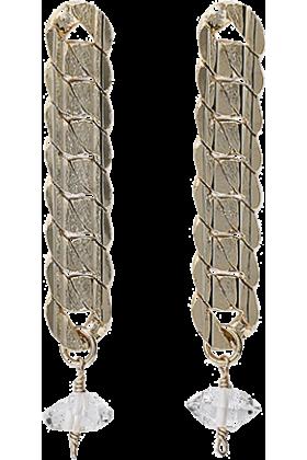 GALLARDAGALANTE(ガリャルダガラ) Earrings -  ガリャルダガランテデザインチェーンピアス
