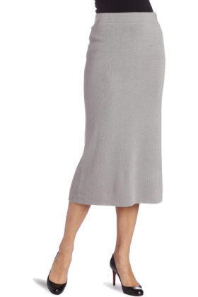AK Anne Klein Skirts -  AK Anne Klein Women's Long Knit Skirt Silver