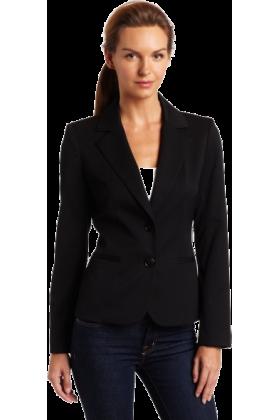 AK Anne Klein Jacket - coats -  AK Anne Klein Women's Petite Classic Blazer Black