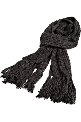 AK Anne Klein Scarf -  Ak Anne Klein Women's Solid Running Stitch Muffler Granite Grey
