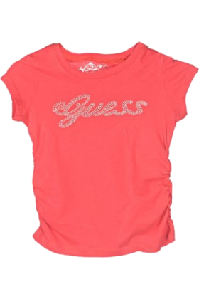 "Amazon.com T-shirts -  Guess ""Glimmer Script"" T-Shirt (Sizes 7 - 16) Red"