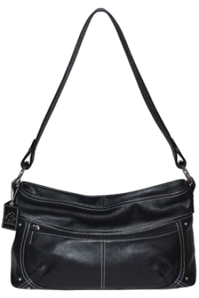Buxton Bag -  B-Collective Handbags by Buxton 10HB047.BK Shoulder Bag- Black
