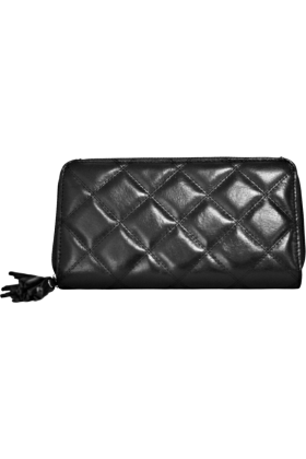 Buxton Wallets -  Black Buxton Quilted Medium Slim Zip Clutch Wallet