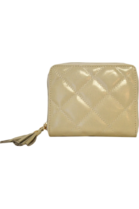 Buxton Wallets -  Bone Quilted Buxton Zip Around Slim Cardex Wallet