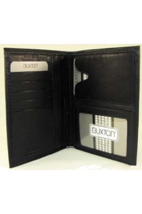 Buxton Wallets -  Buxton Black Leather Passport Wallet
