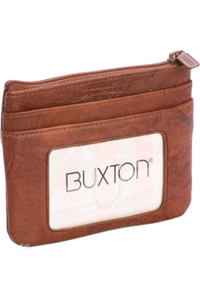 Buxton Wallets -  Buxton Brown Card Case w/ Removable Card Holder