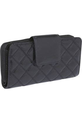 Buxton Clutch bags -  Buxton Buffalo Quilt Ensemble Clutch Black