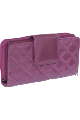 Buxton Clutch bags -  Buxton Buffalo Quilt Ensemble Clutch Gypsy Rose