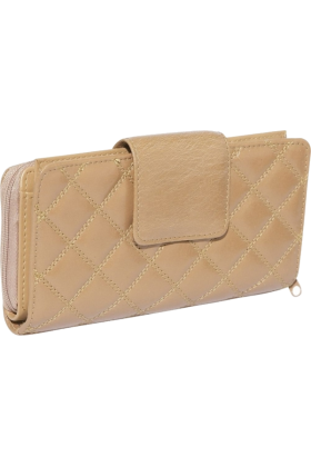 Buxton Clutch bags -  Buxton Buffalo Quilt Ensemble Clutch Tobacco