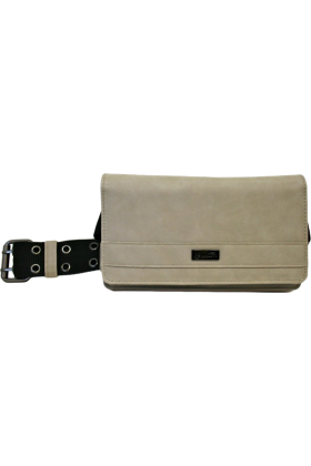 Buxton Wallets -  Buxton Deconstructed Military Belt Hipster Grey