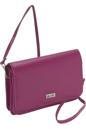 Buxton Wallets -  Buxton Double-Flap Mini-Bag with Total Wallet Organization Purple