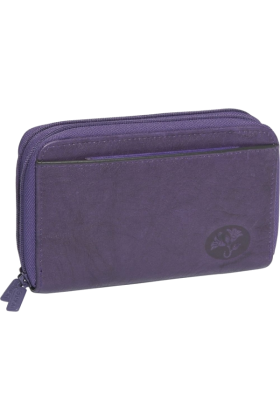 Buxton Wallets -  Buxton Heiress Double Zip-Around Indexer Deep Violet