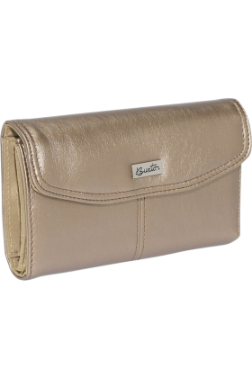 Buxton Clutch bags -  Buxton Muted Metallics Qal-Q-Clutch Bronze