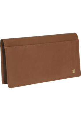 Buxton Wallets -  Buxton Parkview Checkbook Wallet Tan