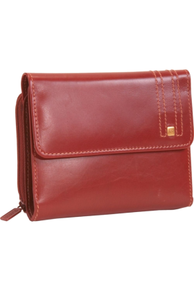 Buxton Billeteras -  Buxton Parkview Zip Double Cardex Red