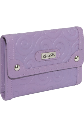 Buxton Wallets -  Buxton Whimsical Swirl Lilac