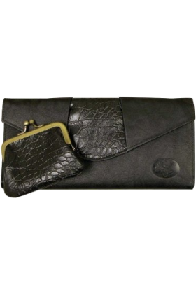 Buxton Clutch bags -  Buxton Women Parallel Elongated Clutch Black