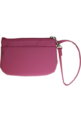 Buxton Wallets -  Buxton Wristlet for Women with Removable ID Carrier Pink
