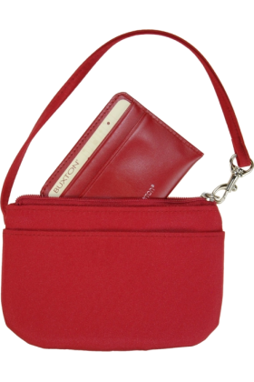 Buxton Bag -  Buxton Wristlet for Women with Removable ID Carrier Red