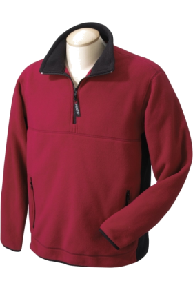 Chestnut Hill Pullovers -  Chestnut Hill Men's Polartec Colorblock Quarter Zip Pullover. CH970 Cherry/Black