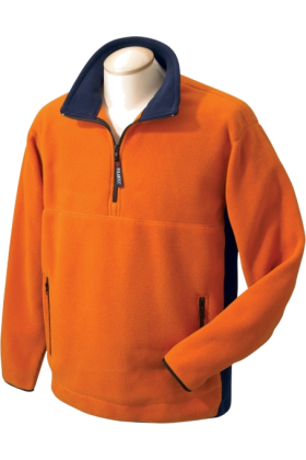 Chestnut Hill Pullovers -  Chestnut Hill Men's Polartec Colorblock Quarter Zip Pullover. CH970 Oj/True Navy