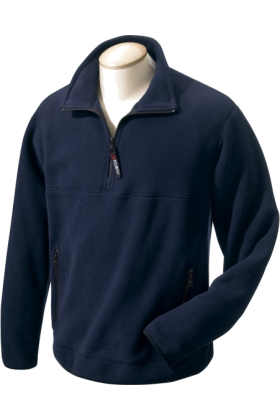 Chestnut Hill Pullovers -  Chestnut Hill Men's Polartec Colorblock Quarter Zip Pullover. CH970 True Navy/True Navy