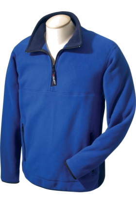 Chestnut Hill Pullovers -  Chestnut Hill Men's Polartec Colorblock Quarter Zip Pullover. CH970 True Royal/True Navy