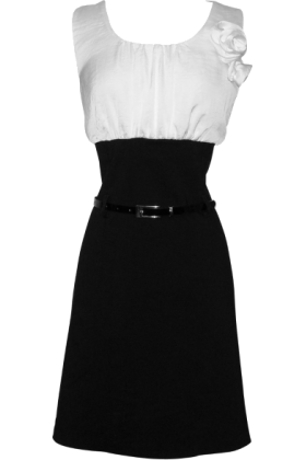 Black Pencil Dress on Color Block Dress W  Belted Black Pencil Skirt White Dresses Amazon