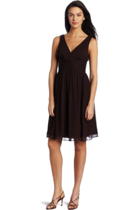 Donna Morgan Dresses -  Donna Morgan Women's Sleeveless Chiffon Dress Demitasse