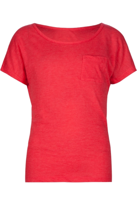 Full Tilt T-shirts -  FULL TILT Essential Pocket Girls Tee Coral