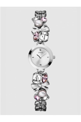GUESS Watches -  GUESS Crystallized Romance Watch - Silver
