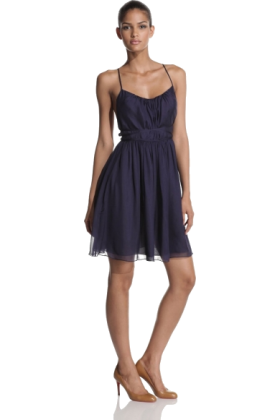 Halston Heritage Dresses -  HALSTON HERITAGE Women's Halter Dress With Cross Tie Navy