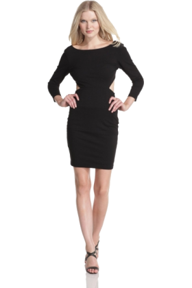 Halston Heritage Dresses -  HALSTON HERITAGE Women's Long Sleeve Sweetheart Dress Black