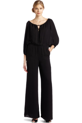 Halston Heritage Dresses -  HALSTON HERITAGE Women's Peasant Jumpsuit Black