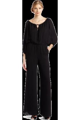 Halston Heritage Dresses -  HALSTON HERITAGE Women's Peasant Jumpsuit Black