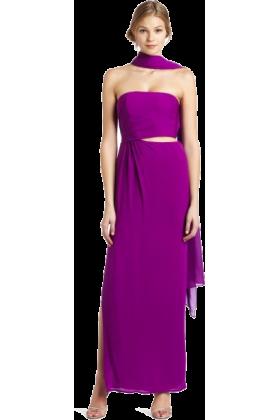 Halston Heritage Dresses -  HALSTON HERITAGE Women's Sarong Gown Fuschia