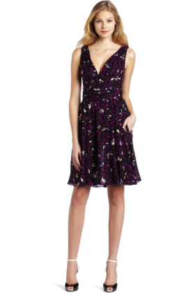 Halston Heritage Dresses -  HALSTON HERITAGE Women's Tie Waist Dress Hibiscus Print