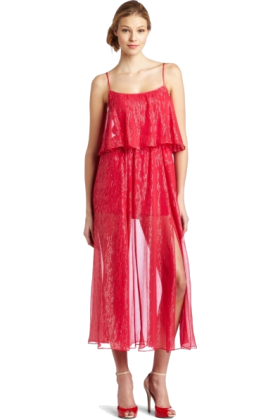 Halston Heritage Dresses -  HALSTON HERITAGE Women's Tiered Gown Rose