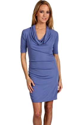 Halston Heritage Dresses -  Halston Heritage Women's Asymmetric Cowl Dress Galaxy