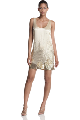 Halston Heritage Dresses -  Halston Heritage Women's Sequined Tank Dress golden