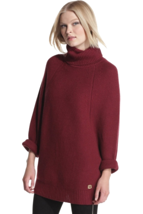 Halston Heritage Long sleeves shirts -  Halston Heritage Women's Turtleneck Sweater Bordeaux