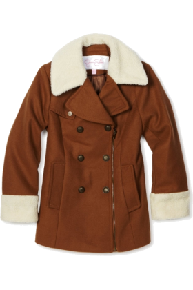 Jessica Simpson Jacket - coats -  Jessica Simpson Coats Girls 7-16 Asymmetrical Zipper Chestnut