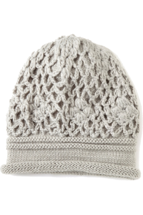 Jessica Simpson Cap -  Jessica Simpson Women's Crochet Scrunchy Beanie Grey
