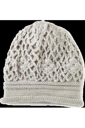 Jessica Simpson Cap -  Jessica Simpson Women's Crochet Scrunchy Beanie Grey